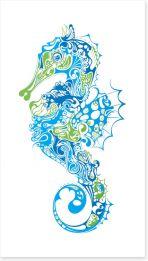 Intricate seahorse