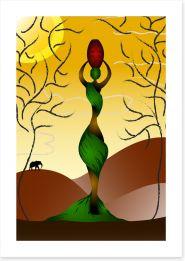 African Art Art Print 23997485