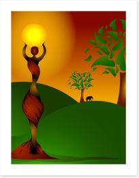 African Art Art Print 23997533