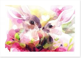 Animal Friends Art Print 240246119