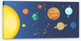 Rockets and Robots Stretched Canvas 243120876
