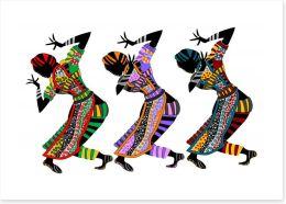 Collective rhythm Art Print 24457995