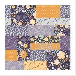 Patchwork Art Print 244655996