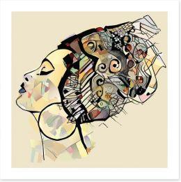 African Art Art Print 245543393