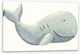 The happy whale Stretched Canvas 24593162