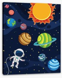 Rockets and Robots Stretched Canvas 250754695