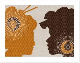 African Art Art Print 254881373