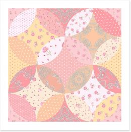 Patchwork Art Print 256993147