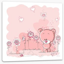 Teddy in the garden Stretched Canvas 25739158