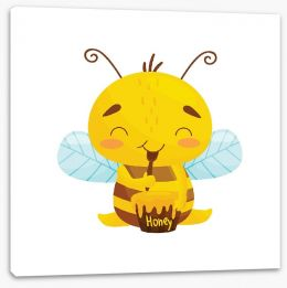 Happy Critters Stretched Canvas 262169257