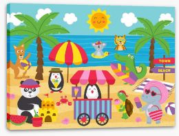 Animal Friends Stretched Canvas 268166403