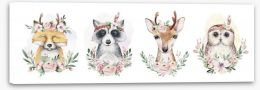 Flower forest friends Stretched Canvas 273612987