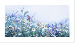 Chamomile flutter Art Print 274727777