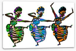 African Art Stretched Canvas 27980632