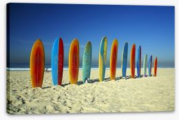 Surfboards on the beach Stretched Canvas 28311139
