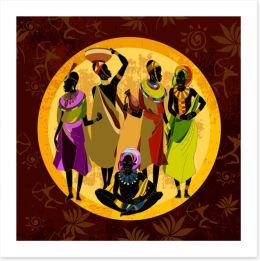 African Art Art Print 285892514