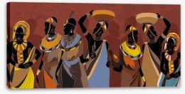 African Art Stretched Canvas 294127379