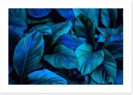 Leafy blues 2 Art Print 294567465