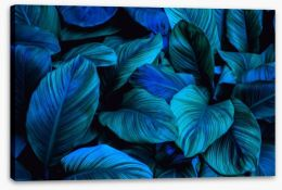 Leafy blues 2 Stretched Canvas 294567465