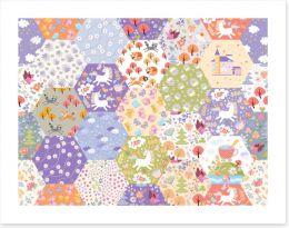 Patchwork Art Print 298439621