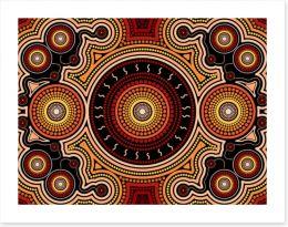 Dot Painting Art Print 311853919