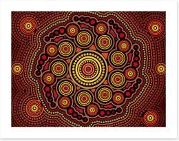 Dot Painting Art Print 311854086