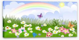 Rainbow meadow Stretched Canvas 31202790