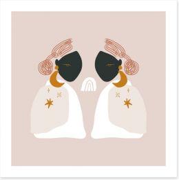 African Art Art Print 314948472