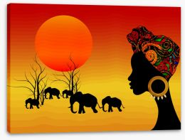 African Art Stretched Canvas 322057400