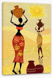 African Art Stretched Canvas 34844914
