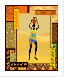 Balancing the tribal jug Art Print 34845797