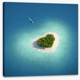 Love island Stretched Canvas 34951586