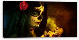 Sugar skull folklore Stretched Canvas 35305263