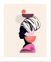 African Art Art Print 354528630