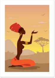 Zulu soul Art Print 35730377