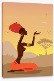Zulu soul Stretched Canvas 35730377