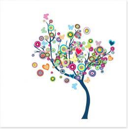 Happy tree Art Print 36117088