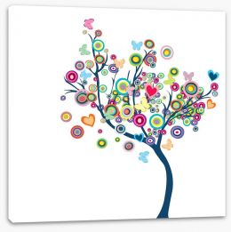 Happy tree Stretched Canvas 36117088