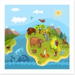 Animal Friends Art Print 36793742