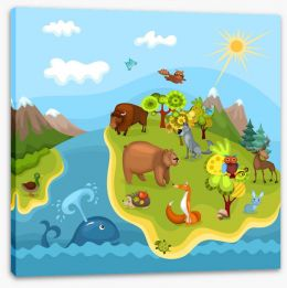 Animal Friends Stretched Canvas 36793742