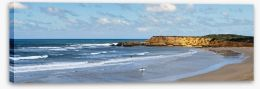 Torquay beach panorama Stretched Canvas 38031853