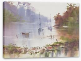 Watercolour Stretched Canvas 385519753