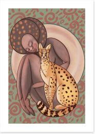 African Art Art Print 387130319