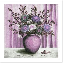 Asters in a vase Art Print 38742017
