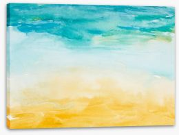 Beach days watercolour Stretched Canvas 39192321
