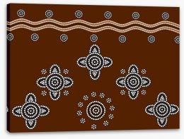 Aboriginal Art Stretched Canvas 39462118