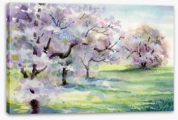 Blooming apple trees Stretched Canvas 39813991