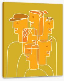 Cubism people Stretched Canvas 40258799