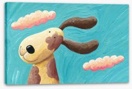 Ear flapping joy Stretched Canvas 40703443