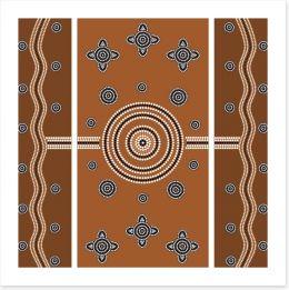 Aboriginal Art Art Print 40758003